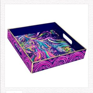 NWT Lilly Pulitzer Lacquer Tray, Beach Loot
